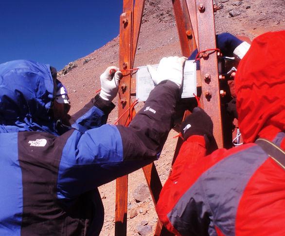 Paso Uspallata. cruce de Los Andes