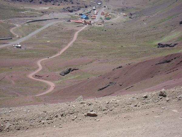 Paso Bermejo. Cruce de Los Andes
