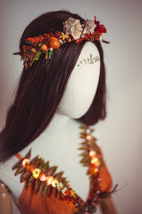Rot/Oranges Meerjungfrauen Outfit