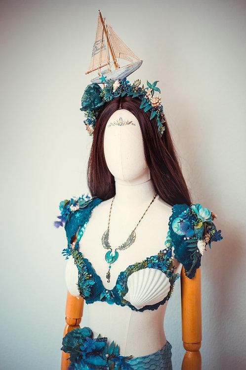 Blaues Meerjungfrauen Outfit