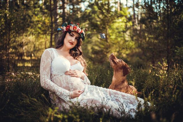 Schwangerschaftsshooting in der Natur