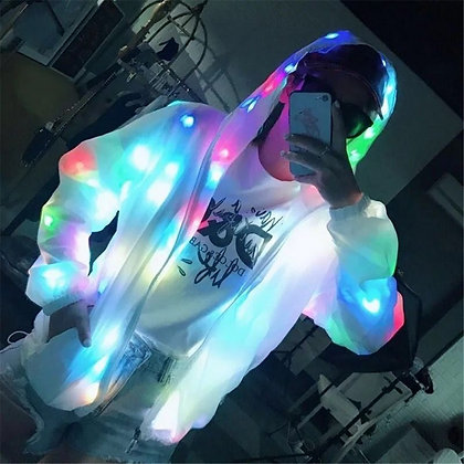 Colorful LED Jacket Light Up Outerwear