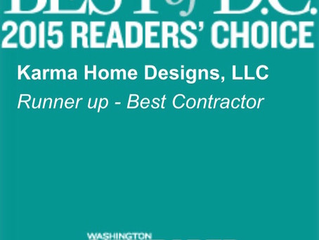 Runner up Best Contractor 2015