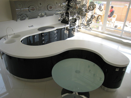 Amazing Curved Kitchen Counters