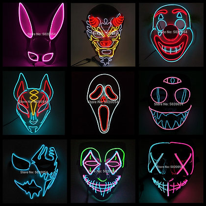 LED  Glowing Party Rave Mask