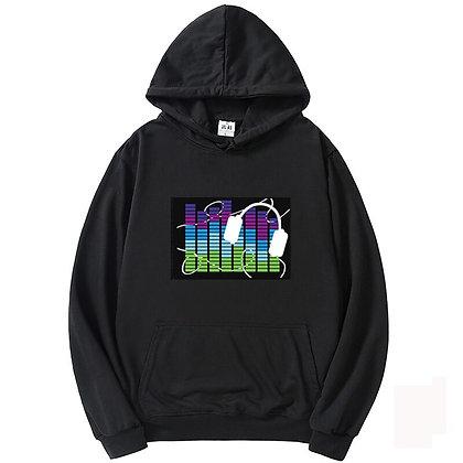 Light Up Sweatshirt Rock Disc Unisex