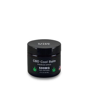 CBD Cool Balm - Premium Grade - 500MG CBD - 100% Natural - 2OZ - Made in USA