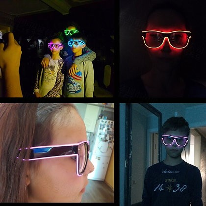 Flashing Glasses EL Wire LED Glasses Glowing Party