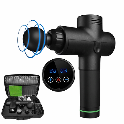 20 Speed Massage Gun with LCD Display, Travel Case, and 6 Massage Heads
