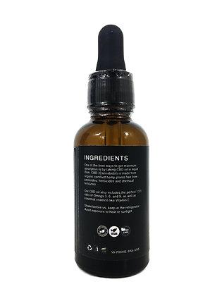 CBD Oil - Premium Grade - 100% Natural - 500MG CBD - 1 Fl. Oz. / 30 Ml.
