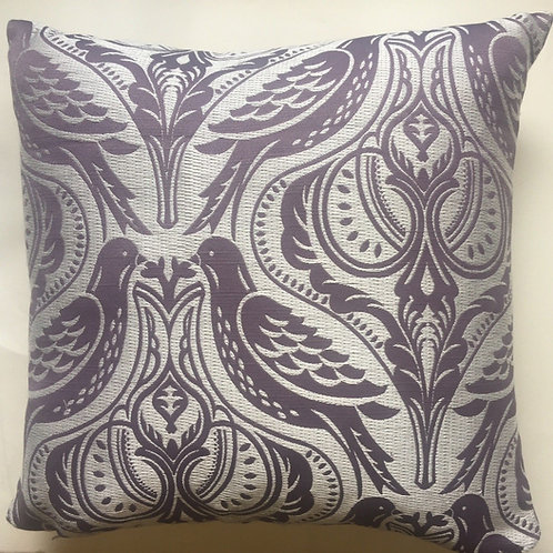 "Brand New Luxury 18"" Feather Filled Cushion - Purple"
