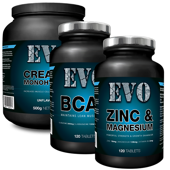 EVO Ultimate Pack | Creatine Monohydrate | BCAA | ZMB6