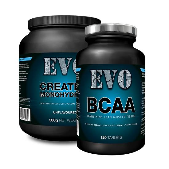 EVO Starter Pack | Creatine Monohydrate | BCAA