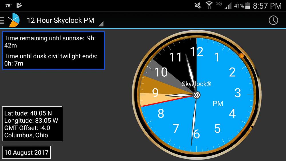 Skyclock screenshot 08102017