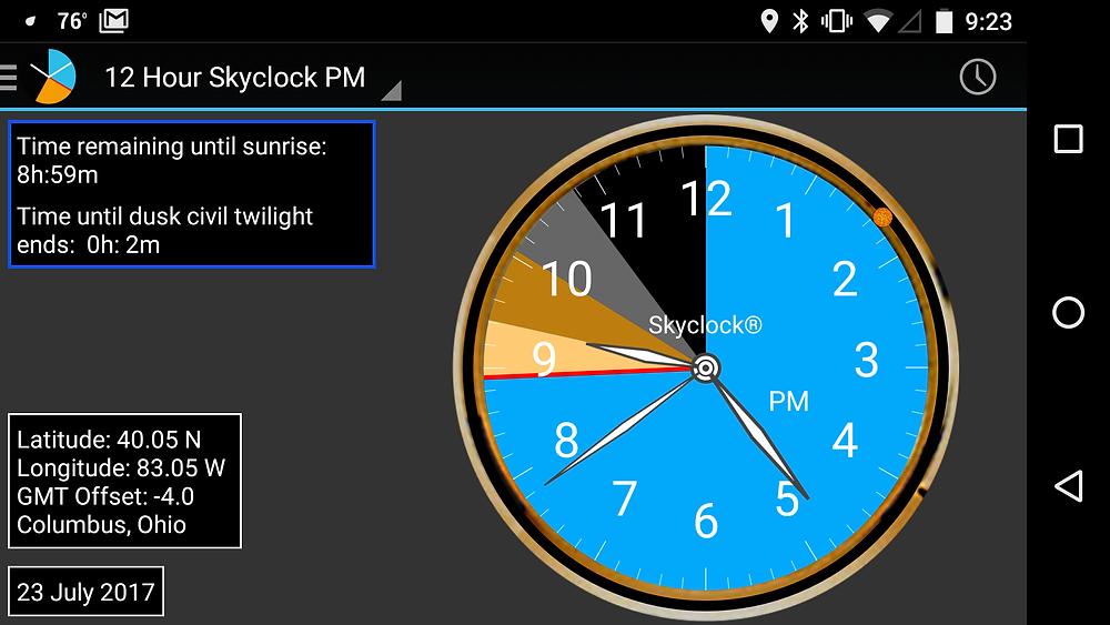 Skyclock Android Screen Shot