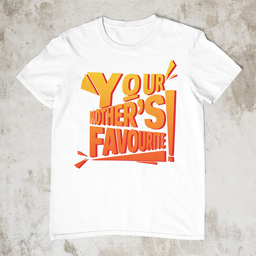 Your Mothers Favourite T Shirt Yellow/Orange Fade