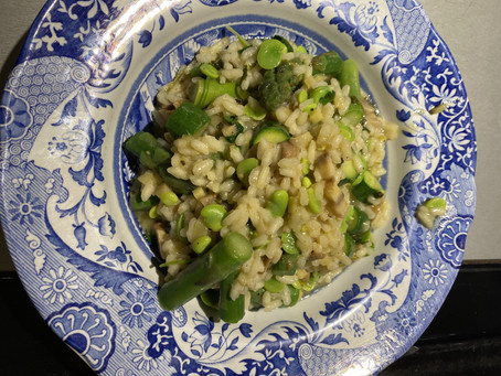 Friday night lockdown Risotto Primavera