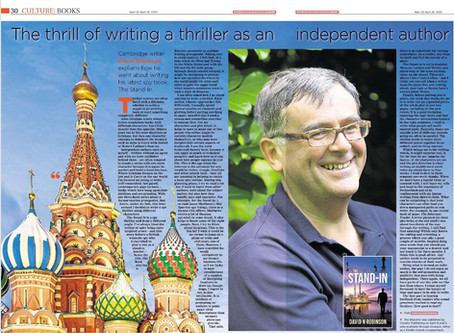 Nice article about The Stand-In in today's Cambridge Independent newspaper