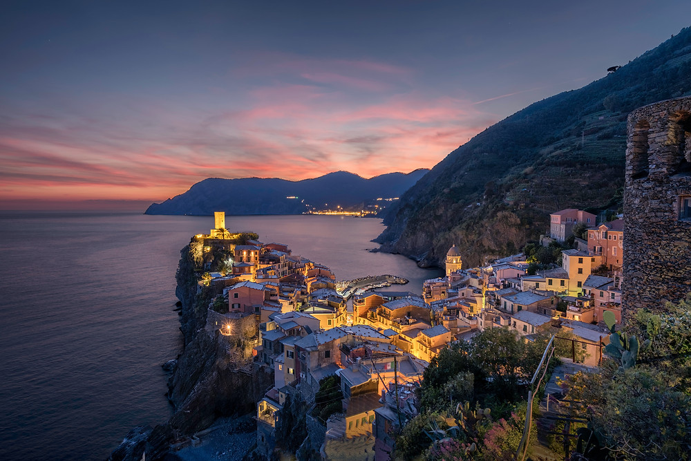 Vernazza sunset from the upper viewpoint