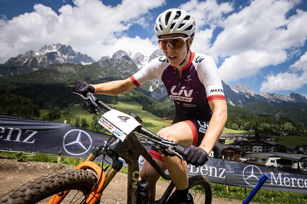 Die Olympia-Bronzemedaillen-Gewinnerin Linda Indergand