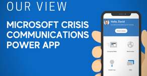How does Microsoft's Crisis Communication Power App push technology even further?