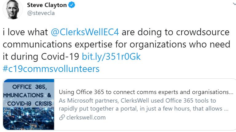 office 365 communication volunteers