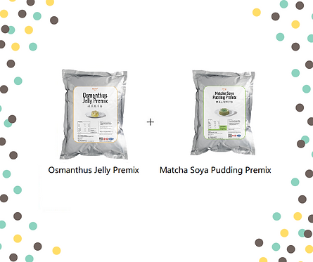 Osmanthus Jelly Premix + Matcha Soya Pudding Premix Bundle