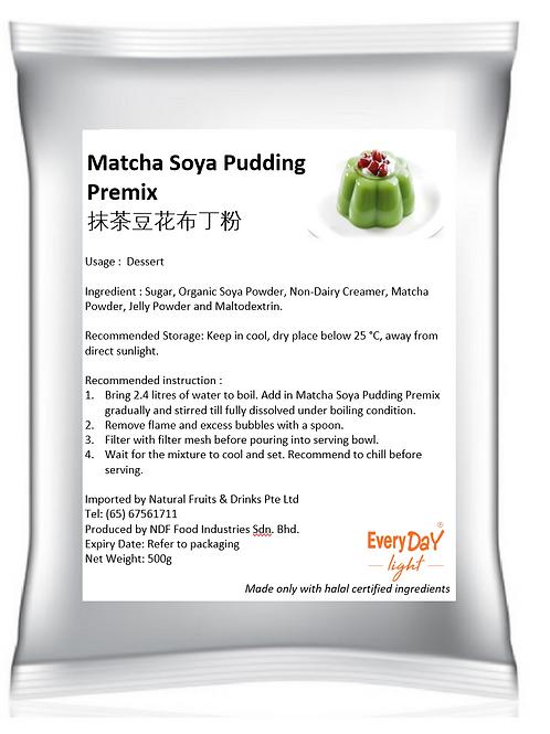 Matcha Soya Pudding Premix抹茶豆花布丁粉