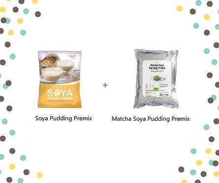 Soya Pudding Premix + Matcha Soya Pudding Premix Bundle