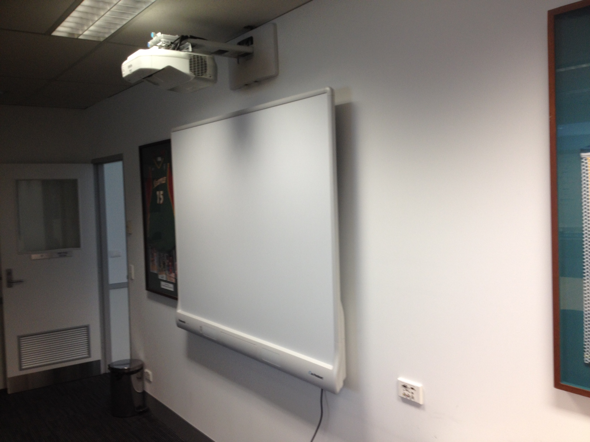 Interactive board installation