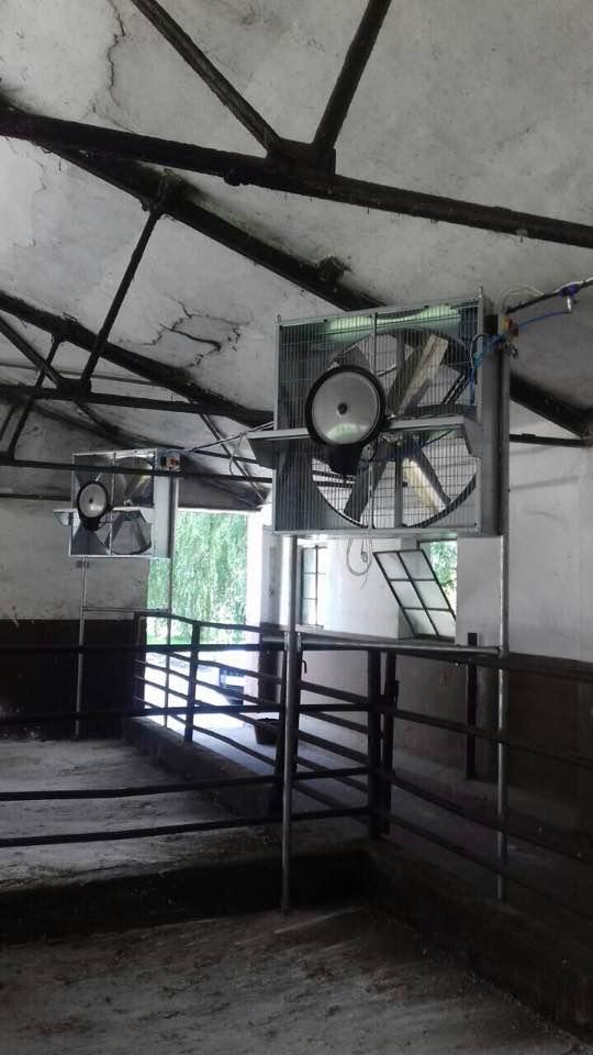 Párásítós ventillátorok felszerelése