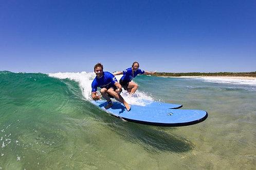 바이런베이 서핑레슨 2시간 + 1시간 서핑보드대여