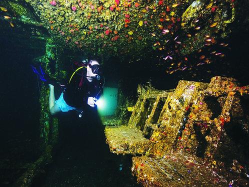 브리즈번 난파선 스쿠버다이빙 HMAS deep dive