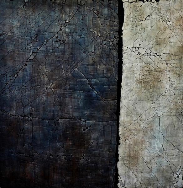 "Serenity. Mixed media. 48"" x 48"". 2013 SOLD"