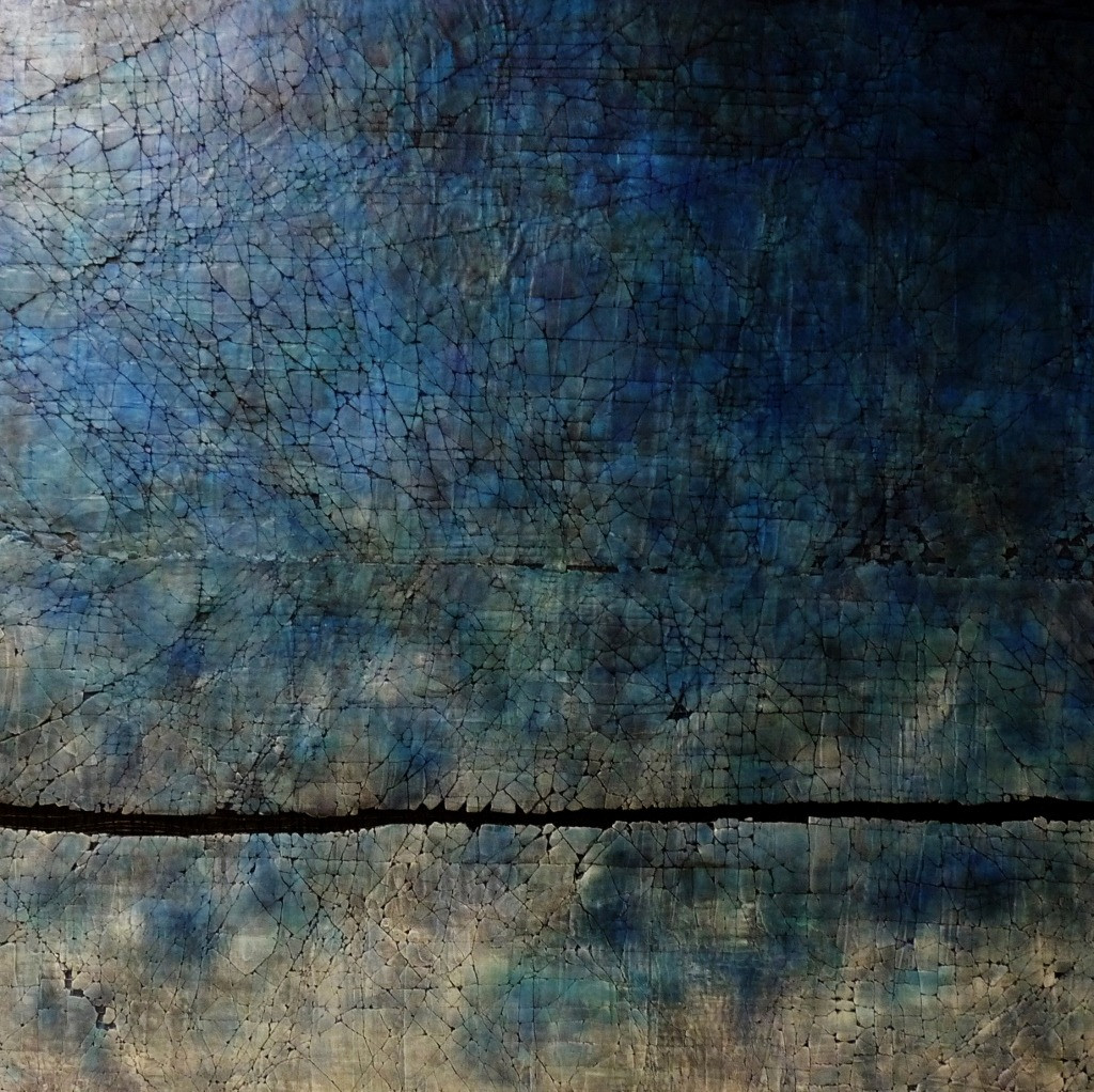 "Deeply Breathing Blue. Mixed Media. 60"" x 60"". 2015 SOLD"