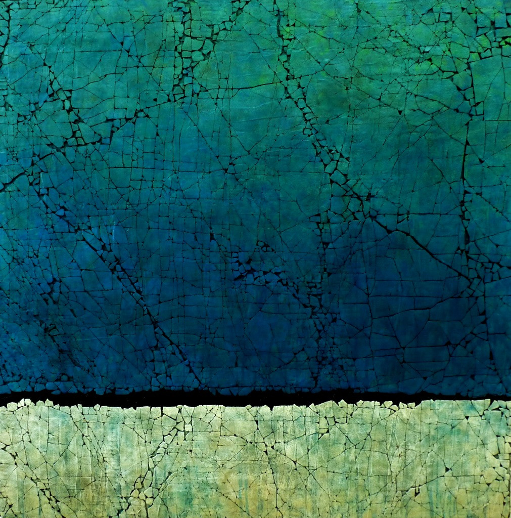 "Natadola Bay. Mixed media. 48"" x 48"". 2014 SOLD"