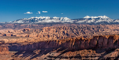 Arches NP viewed from Canyonland NP