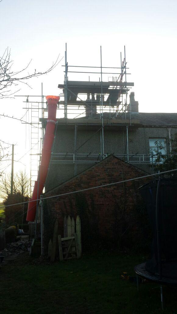 Giants Hall listed building - Rebuild of Chimney Stacks