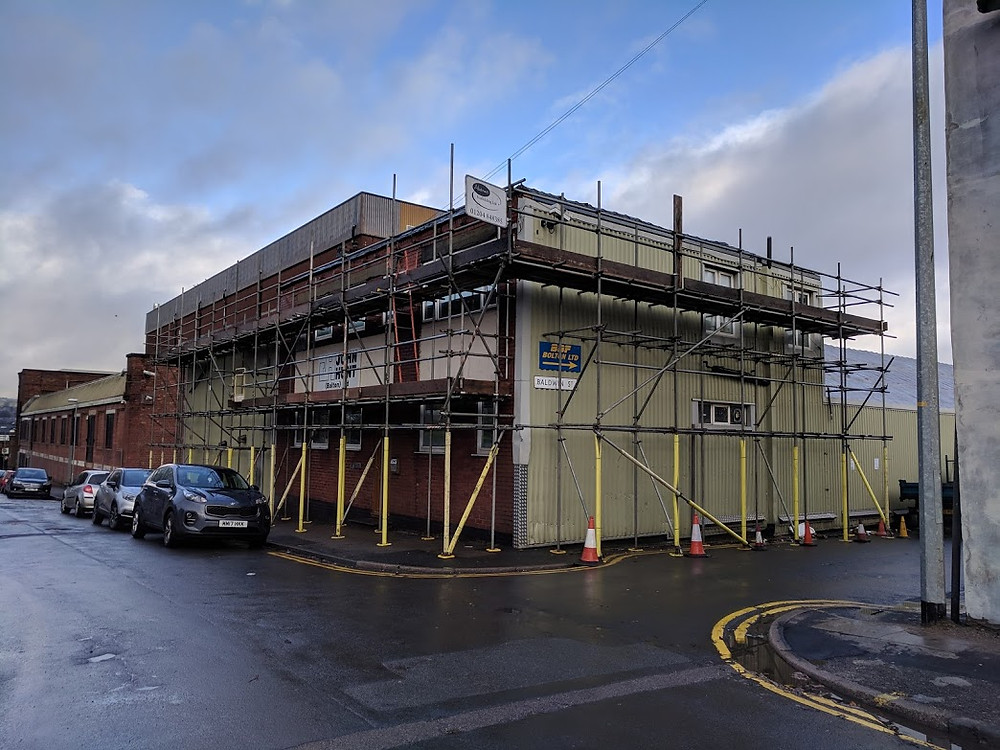 John Hunts, Bolton scaffoldrequired by Metric Construction