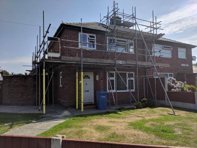 House Repointing Scaffold