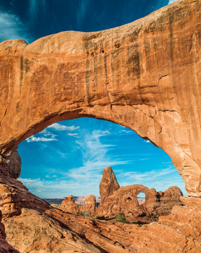 Turret Arch viewed through North Window, Arches NP