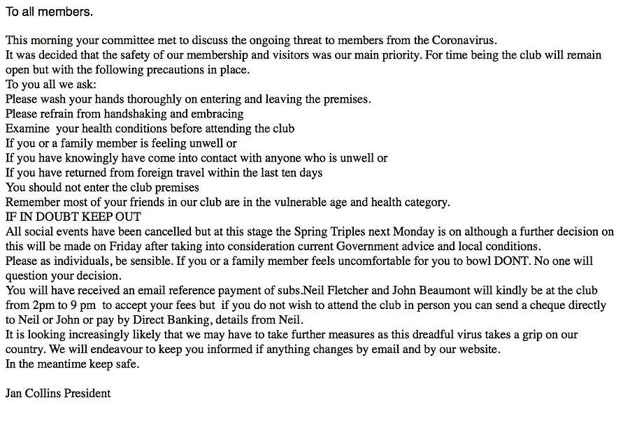 Committee Decision on Coronavirus 16:03: