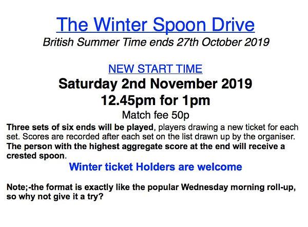 Winter spoon drive nov 2019 short versio