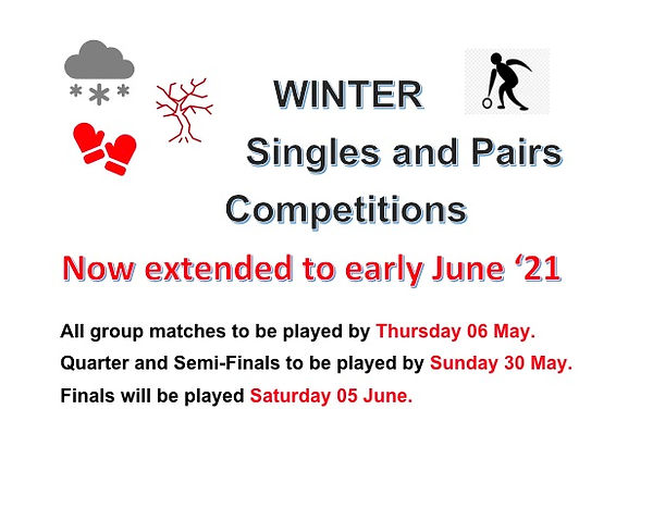 Winter pairs:singles play dates 06:03:21