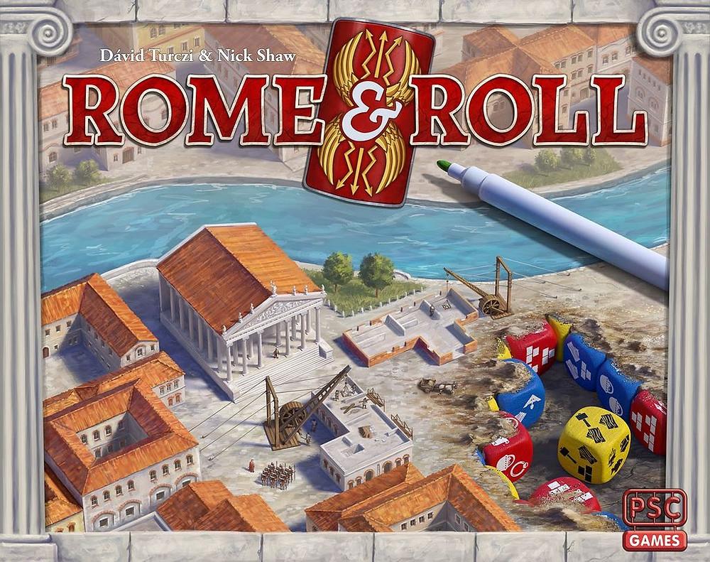 Rome & Roll box cover (work in progress)