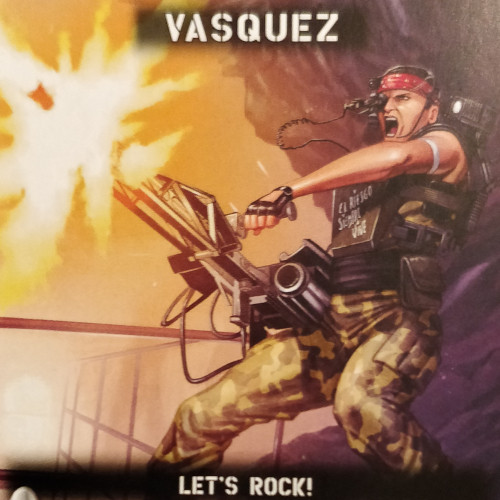 "Vasquez: ""Let's rock!"""