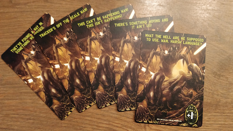 Aliens turn order cards