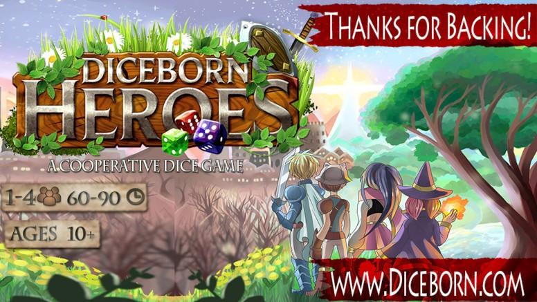 Dice Born Heroes - Kickstarter campaign