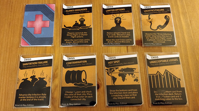 Pandemic: Hot Zone - North America Crisis cards