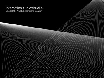 Soundseeing - Interactive Audiovisual Experimentation - 2015